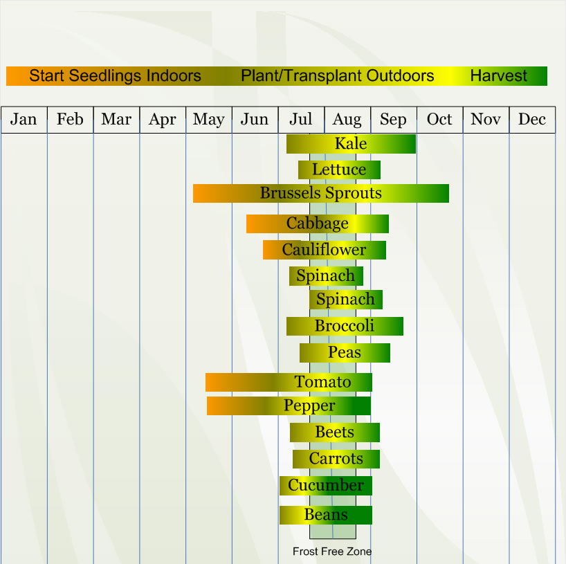 Zone 3 Vegetable  planting calendar describing approximate dates to start vegetable  plants indoors and outdoors relative to specific USDA Plant Hardiness  Zones.